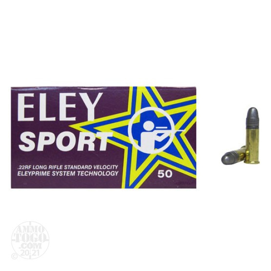 5000rds - 22LR Eley Sport 40gr. Solid Point Ammo