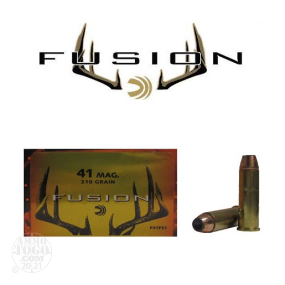 20rds - 41 Mag Federal Fusion 210gr. SP Ammo