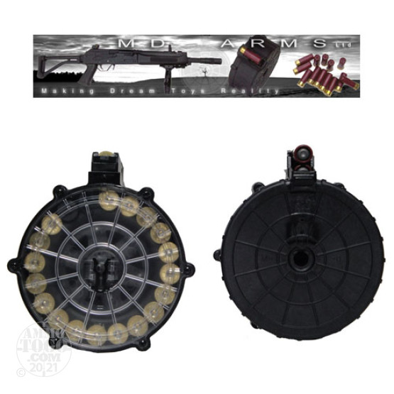 1 - MD Arms Saiga 12 Gauge 20rd. Drum Polymer w/Clear, Black & Smoke Cover Plate
