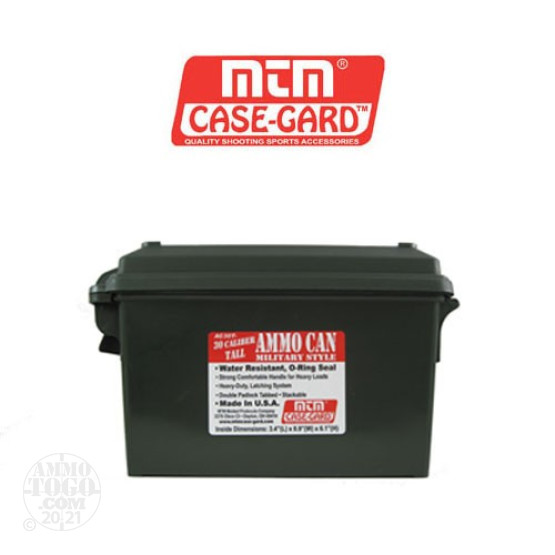1 - MTM Tall 30 Cal Size Ammo Can - Green