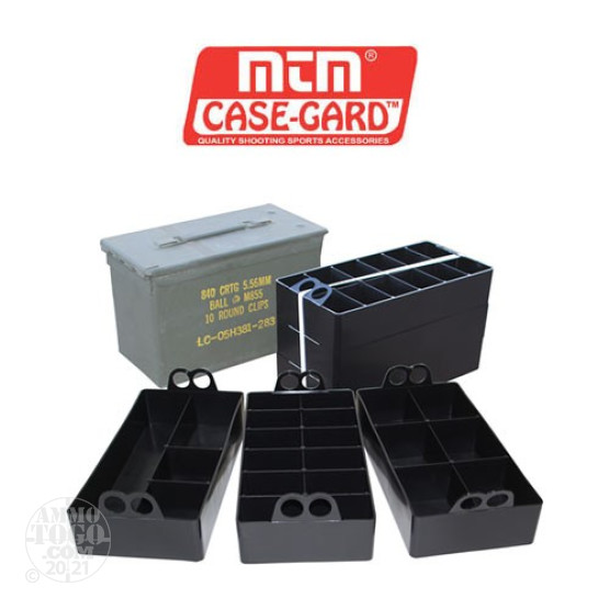 1 - MTM Ammo Can Organizer for 50 Cal. Ammo Can 3 Pack Black