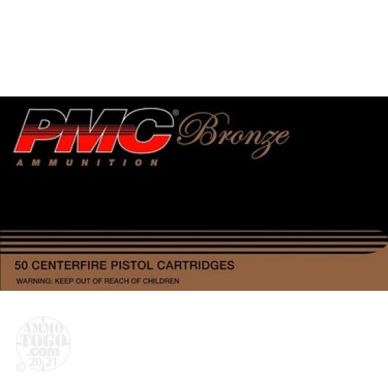 50rds - 357 Mag PMC Bronze 125gr. Hollow Point Ammo