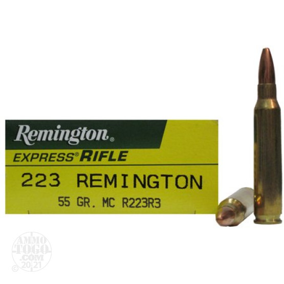 20rds - 223 Remington Express Rifle 55gr. MC Ammo