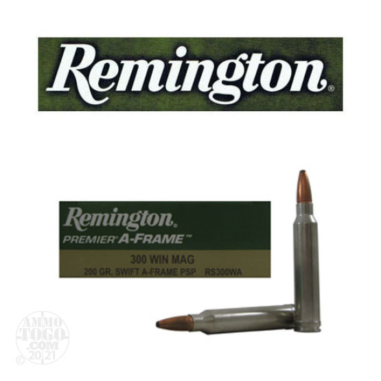 20rds - 300 Win Mag Remington Premier 200gr. Swift A-Frame PSP Ammo