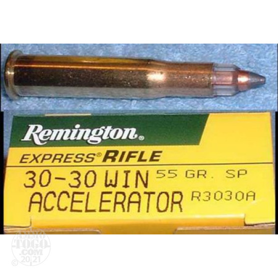 20rds - 30-30 Remington Accelerator 55gr Soft Point Ammo