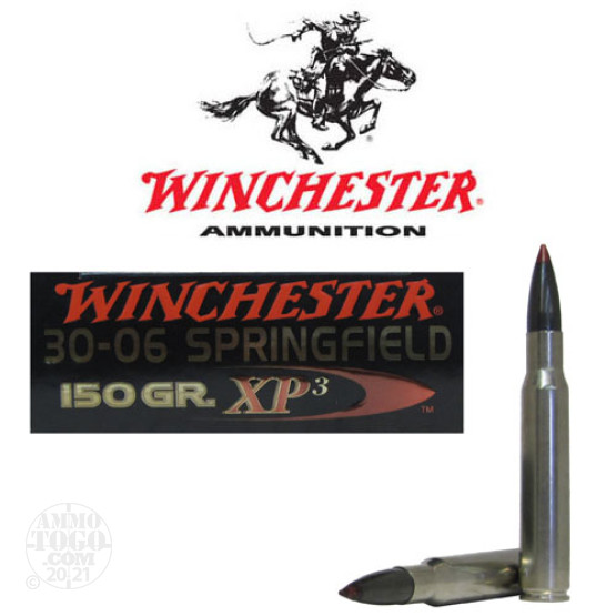 20rds – 30-06 Winchester Supreme Elite 150gr. XP3 Ammo