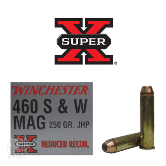 20rds - 460 S&W Mag Winchester 250gr. Super-X Reduced Recoil HP Ammo