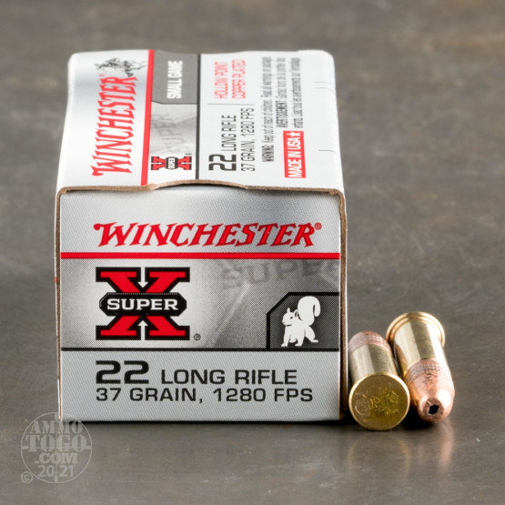 500rds – 22 LR Winchester Super-X 37gr. CPHP Ammo