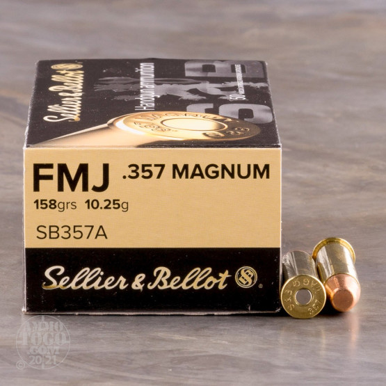 1000rds - .357 Mag Sellier & Bellot 158gr. FMJ Ammo