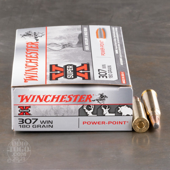 20rds - 307 Win. Winchester 180gr. Power Point Ammo