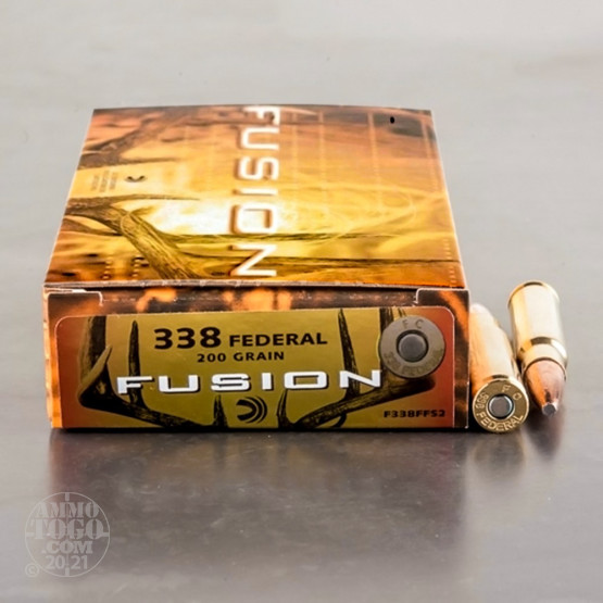 20rds - 338 Federal Fusion 200gr. SP Ammo