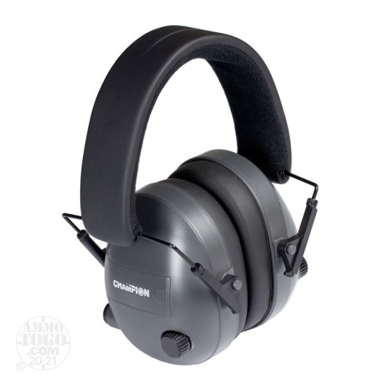 1 - Champion Electronic Earmuffs Black/Dark Gray