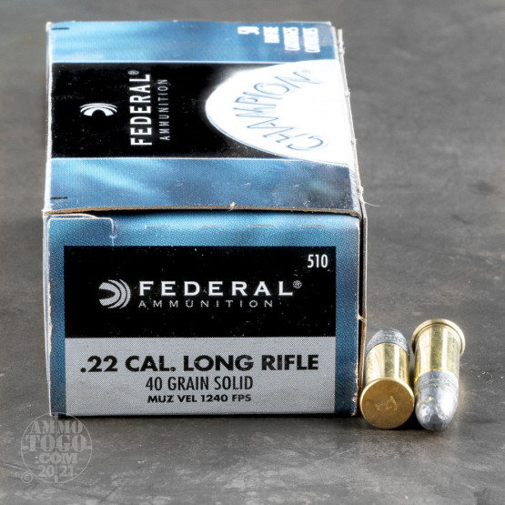 5000rds – 22 LR Federal Champion 40gr. LRN Ammo