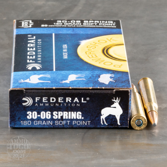 200rds - 30-06 Federal Power-Shok 180gr. SP Ammo