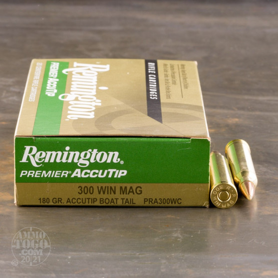 20rds - 300 Win Mag Remington 180gr. Premier AccuTip-V Boat Tail Ammo