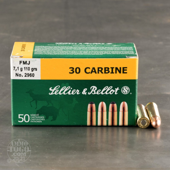 1000rds – 30 Carbine Sellier & Bellot 110gr. FMJ Ammo