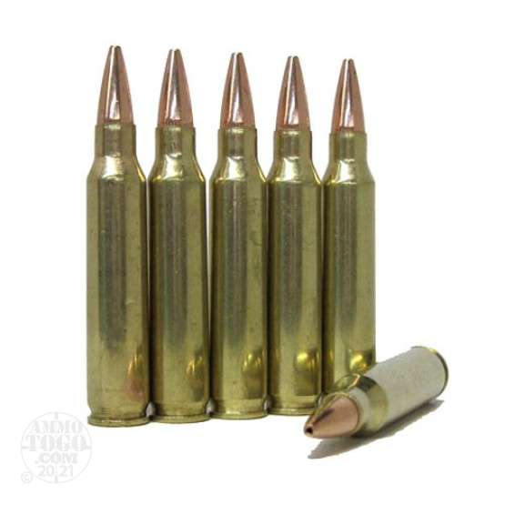 100rds - .223 DRS 68gr. BTHP Ammo Once Fired Brass