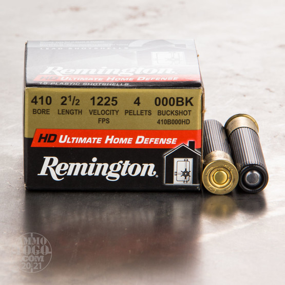 "15rds - 410 Gauge Remington Ultimate Home Defense 2 1/2"" 4 Pellet 000 Buck Shot"