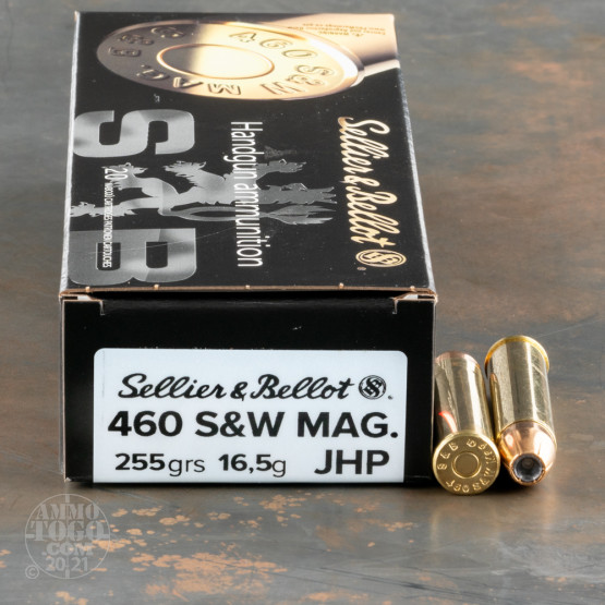20rds – 460 S&W Mag Sellier & Bellot 255gr. JHP Ammo