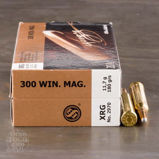 20rds - 300 Win Mag Sellier and Bellot 180gr. eXergy Capped Copper HP Ammo