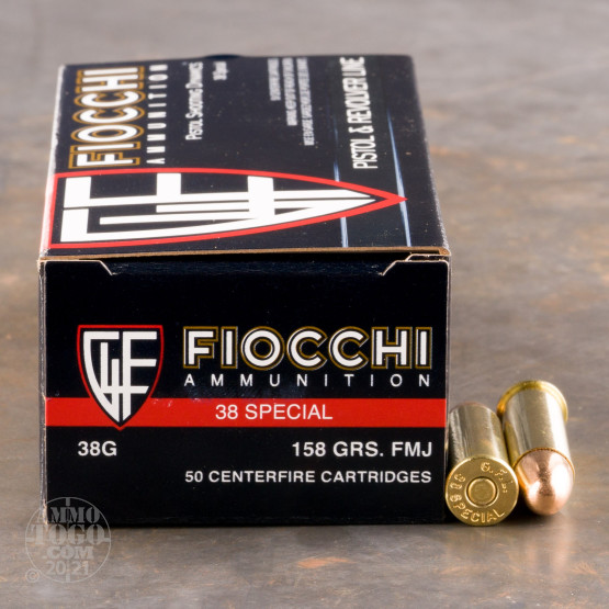 50rds - 38 Special Fiocchi 158gr. Full Metal Jacket Ammo
