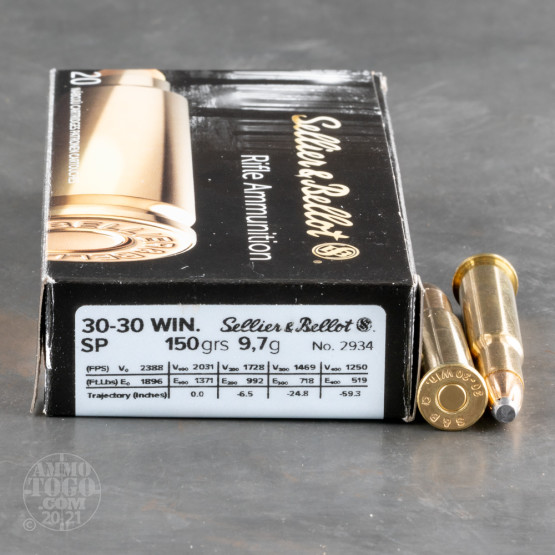 20rds – 30-30 Sellier & Bellot 150gr. SP Ammo