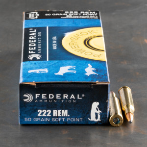 20rds – 222 Rem Federal Power-Shok 50gr. SP Ammo