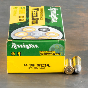 50rds – 44 Special Remington Performance WheelGun 246gr. LRN Ammo