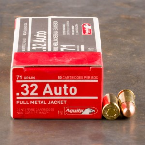 50rds - 32 Auto Aguila 71gr. FMJ Ammo