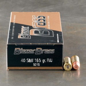40 S&W - 165 Grain FMJ - Blazer Brass - 1000 Rounds