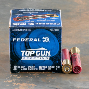 "25rds – 410 Gauge Federal Top Gun Sporting 2-1/2"" 1/2oz. #9 Shot Ammo"