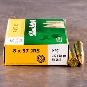 20rds - 8 x 57 JRS Rimmed Sellier & Bellot 196gr. HPC Ammo