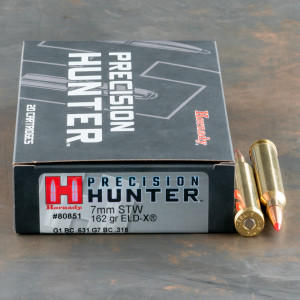 20rds – 7mm STW Hornady Precision Hunter 162gr. ELD-X Ammo
