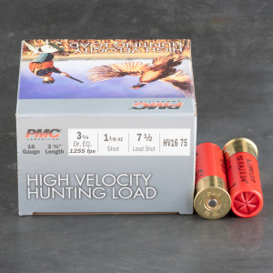 """250rds – 16 Gauge PMC High Velocity Hunting Load 2-3/4"""" 1-1/8oz. #7-1/2 Shot Ammo"""