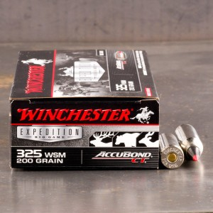 20rds - .325 WSM Winchester Accubond CT 200gr. Ammo