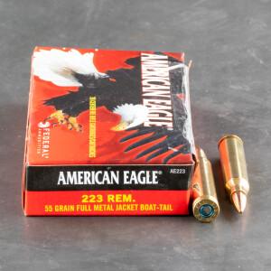 20rds - 223 Federal American Eagle AE223 55gr. FMJ Ammo