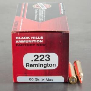 50rds - 223 Black Hills 60gr. V-Max Polymer Tip Ammo