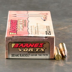 200rds - 300 AAC BLACKOUT Barnes 110gr. TAC-TX Ammo