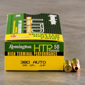 Remington HTP 380 Auto 88 Grain JHP - 500 Rounds