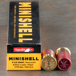 20rds - 12 Gauge Aguila Mini-Shell #7 1/2 Bird Shot