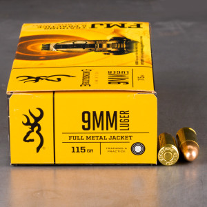 500rds – 9mm Browning 115gr. FMJ Ammo