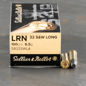 50rds - 32 S&W Long Sellier & Bellot 100gr Lead Round Nose Ammo