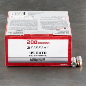 200rds - 45 ACP Federal Champion Aluminum 230gr. FMJ Ammo