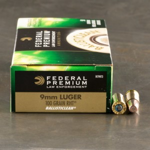 50rds - 9mm Federal LE Ballisticlean 100gr. RHT Frangible
