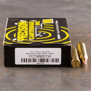 20rds - 7mm STW Precision Cartridge Inc. 140gr. PSP-BT Ammo