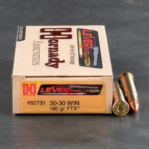 20rds - 30-30 Hornady LEVERevolution 160gr. FTX Ammo