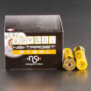"250rds – 20 Gauge NobelSport 2-3/4"" 7/8oz. #7 Steel Shot Ammo"