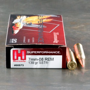 20rds - 7mm-08 Rem. Hornady Superformance 139gr. SST Ammo
