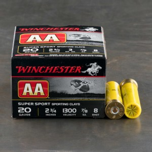 """25rds - 12 Gauge Winchester AA Sporting Clay 2-3/4"""" 1 oz. #7.5 Ammo"""