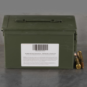 100rds – 50 BMG Lake City 660gr. FMJ M33 Ammo in Ammo Can